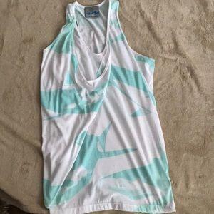 Never Worn Drape Front Tee with  Shark Print